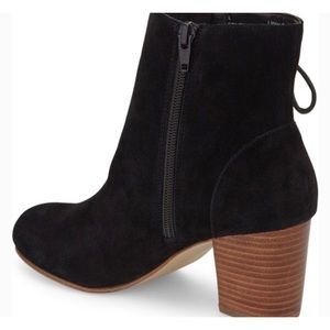 Sole Society Renzo Black Suede Heeled Bootie